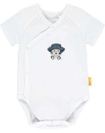 Steiff Wickelbody Kurzarm HELLO SUMMER Baby Boys bright white 2113340-1000