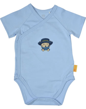 Steiff Wickelbody Kurzarm HELLO SUMMER Baby Boys kentucky blue 2113340-6020