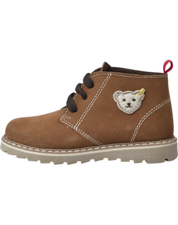 Steiff Booties suede laces CHARLIEE brown