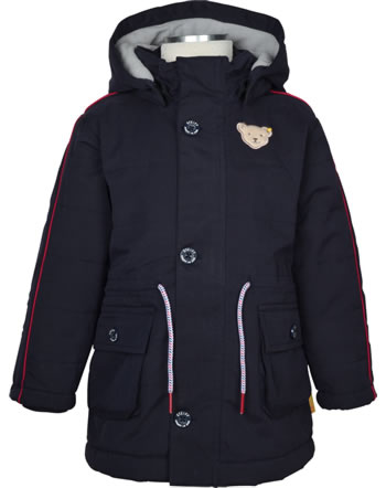 Steiff Winter-Jacket with hood BEAR TO SCHOOL steiff navy 2021125-3032