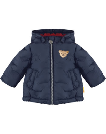 Steiff Winter-Jacket with hood BEAR TO SCHOOL steiff navy 2021338-3032