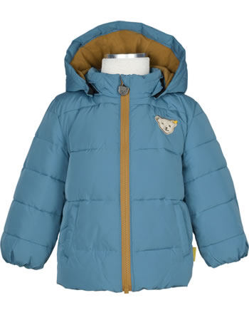 Steiff Winter-Jacket with hood FOREST FRIENDS Baby Boys adria. blue 2023301-6045