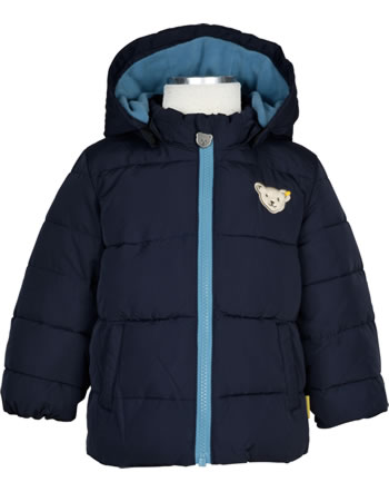 Steiff Winter-Jacket with hood FOREST FRIENDS Baby Boys navy 2023301-3032