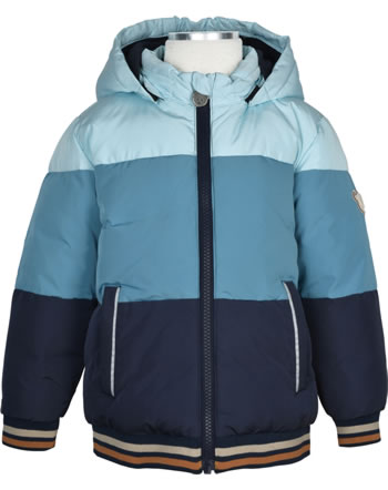 Steiff Jacket with hood FOREST FRIENDS Mini Boys blue glow 2023101-6047