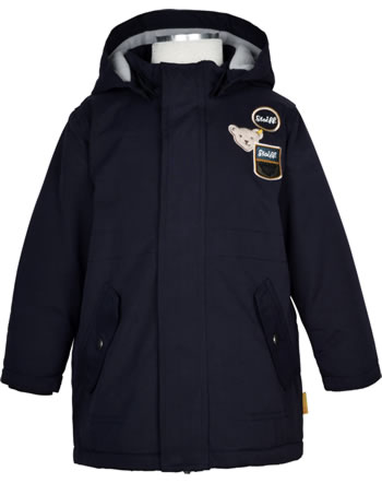Steiff Winter-Jacket with hood INDI BEAR Mini Boys marine 2022101-3032