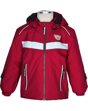 Steiff Winter-Jacket with hood OUTDOOR tango red 1923704-4008