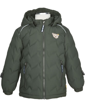 Steiff Winter-Jacket with hood STEIFF TEC OUTERWEAR thyme 2023701-5018