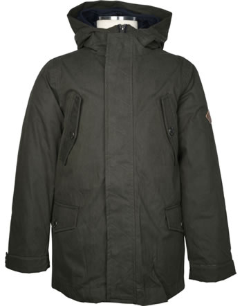 Tom Joule 3-in-1 Boys Parka with hood weatherproof Z_ODRHUDSON-EVERGLD