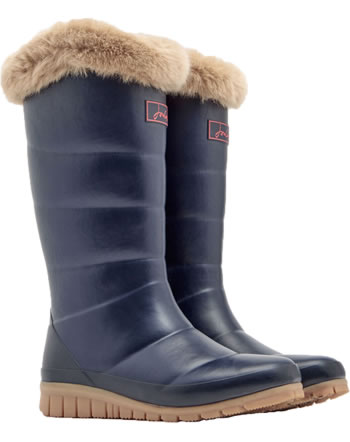 Tom Joule Tall Padded Welly With Fur Collar navy X_DOWNTON-MARNAVY