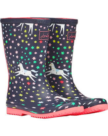 Tom Joule botte en caoutchouc JNR ROLL UP WELLY 209841-NAVUNICORN