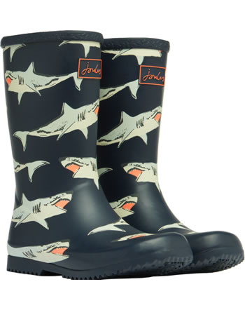 Tom Joule botte en caoutchouc JNR ROLL UP WELLY navy sharks 210097-NAVYSHARKS