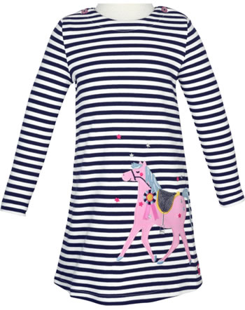 Tom Joule Robe manches longues KAYE navy stripe horse 208414-NVYST