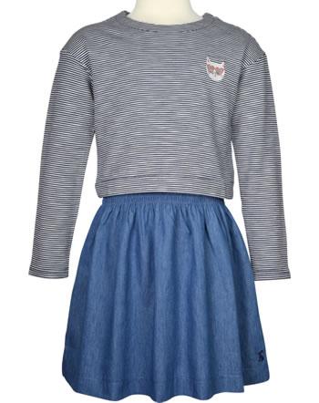 Tom Joule Jersey Applique Dress long sleeve ROSE navy stripe 215344