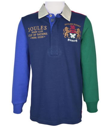 Tom Joule Polo-Shirt manches longues RUGBY bleu/rouge V_JNRTRY-NAVY