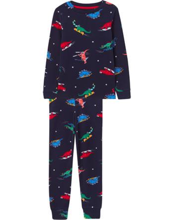 Tom Joule Schlafanzug Pyjama lang KIPWELL navy dinos 210625-NAVYDINOS