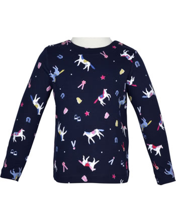 Tom Joule Jersey Applique T-Shirt long sleeve HARBOR PRINT navy horse 208372-NAVYH