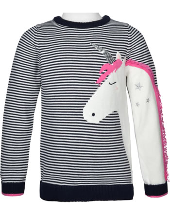 Tom Joule Knit sweater GEEGEE blue stripe unicorn 213679-BLUSTPUNIC