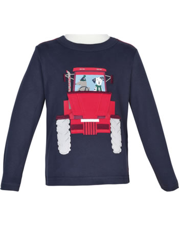 Tom Joule Applique Shirt manches longues CHOMP navy Tractor 207795