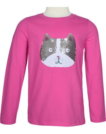Tom Joule T-Shirt long sleeve sequins reversible AVA pink cat dog 216358
