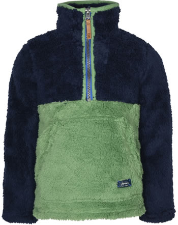 Tom Joule Teddyplüsch-Pullover m. Zipper WOOZLE navy green 215159