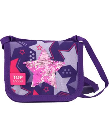 TOPModel Brustbeutel Streichpailletten Star pink