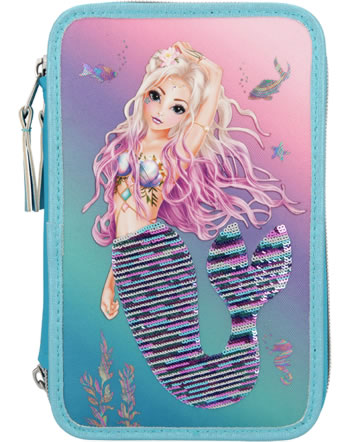 TOPModel Federtasche mit drei Fächern Fantasy Model MERMAID Pailletten 10978
