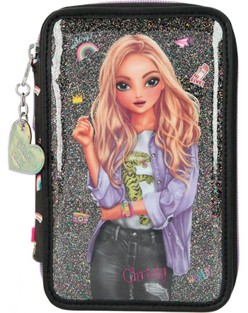 TOPModel pencil case with three parts and filling GIRLZ CLUB 11211