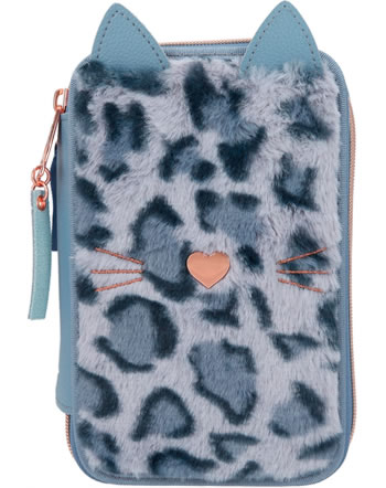 TOPModel pencil case with three parts and filling LEO LOVE 11028