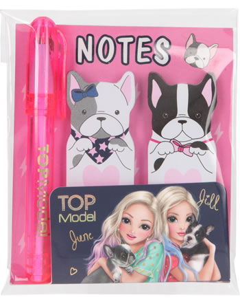 TOPModel Haftnotizen mit Mini-Kugelschreiber Hunde