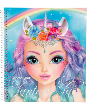 TOPModel Malbuch Create your Fantasy Face blau