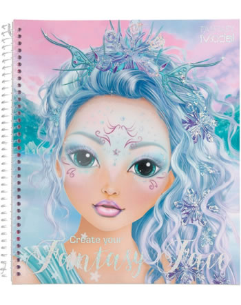 TOPModel Colouring book Create your Fantasy Face ICEFRIENDS 11240