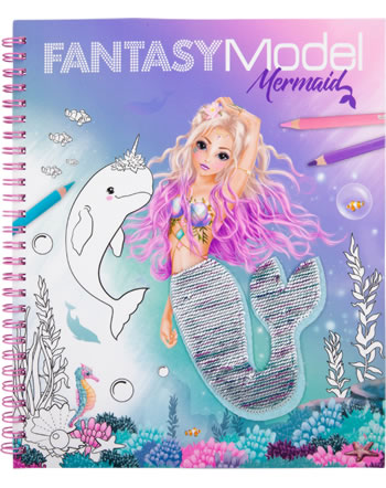 TOPModel livre à colorier avec paillettes Fantasy Model MERMAID 11153