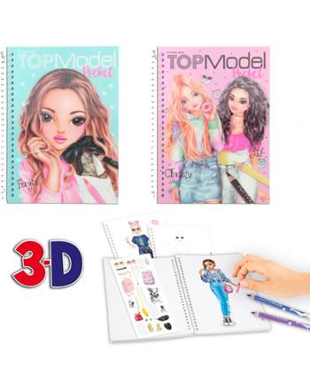 TOPModel Pocket Malbuch mit 3D Cover 7857/P