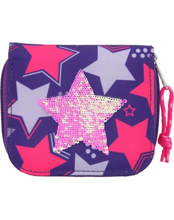 TOPModel Portmonee Streichpailletten Star pink