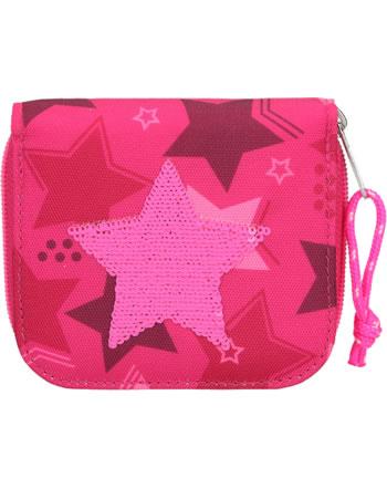 TOPModel Portmonee Streichpailletten Stern pink