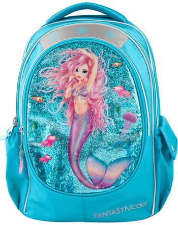TOPModel Schul-Rucksack Fantasy Model MERMAID blau