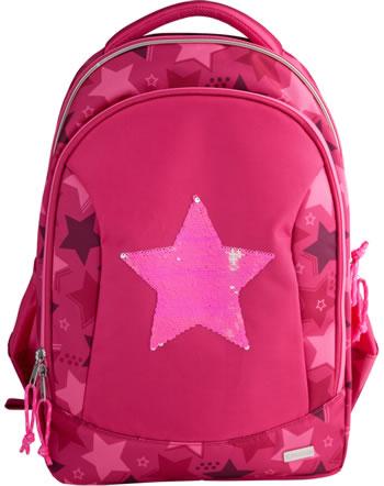 TOPModel Schul-Rucksack Streichpailletten Stars pink