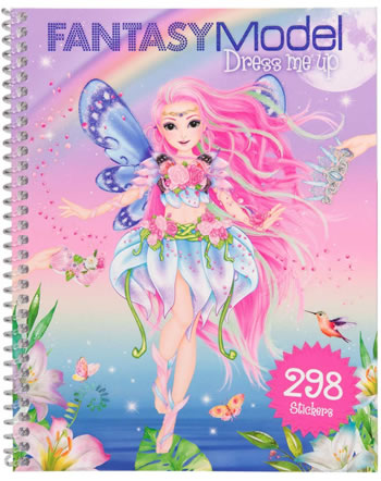 TOPModel Stickerbuch Dress me up Fantasy Model lila