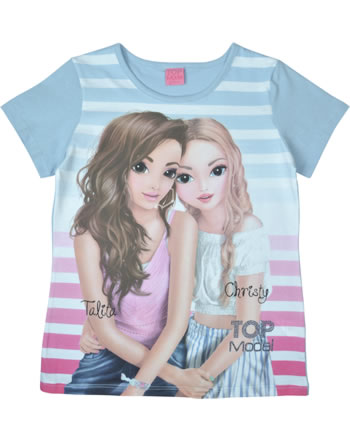 TOPModel T-Shirt Kurzarm TALITA UND CHRISTY cashmere blue 85006-613