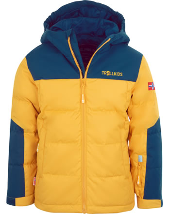 Trollkids Down jacket KIDS NARVIK XT golden yellow/mystic blue 229-703