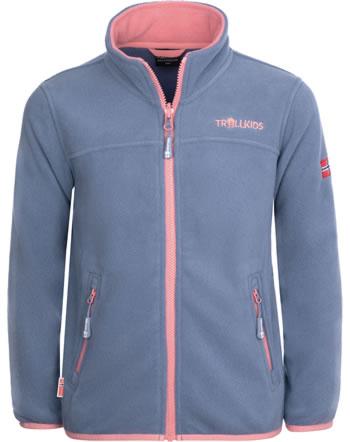 Trollkids Girls Fleece Jacket OPPDAL JACKET XT dusty blue/antique rose 415-162