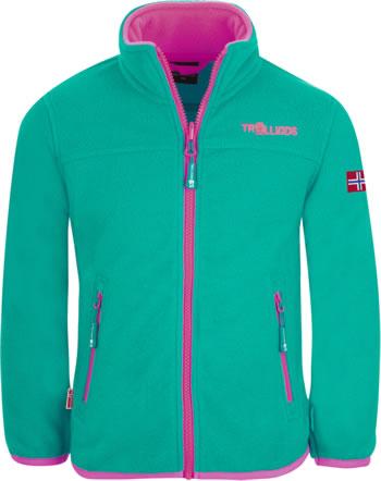 Trollkids Girls Fleece Jacket OPPDAL XT smaragd/rubine 415-312