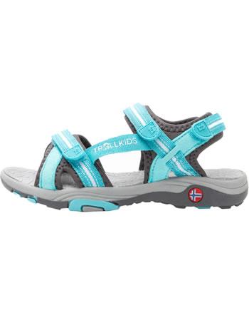 Trollkids Girls Sport Sandal PREIKESTOLEN mint/grey 254-132