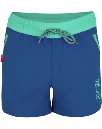 Trollkids Girls Shorts ARENDAL midnight blue/dark mint 304-134
