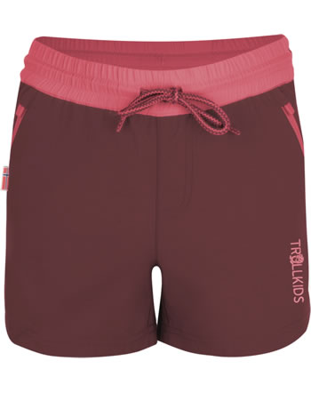Trollkids Girls Shorts ARENDAL mystic red/coral 304-411