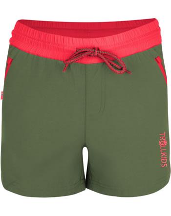 Trollkids Girls Shorts ARENDAL olive/coral 304-316