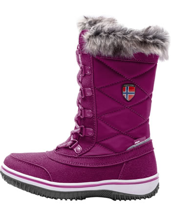 Trollkids Girls Snow Boots HOLMENKOLLEN dark rose 171-206
