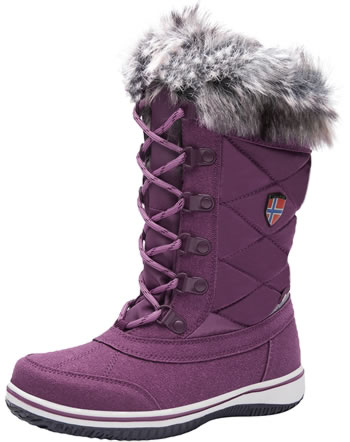 Trollkids Girls Snow Boots HOLMENKOLLEN maroon red 171-219