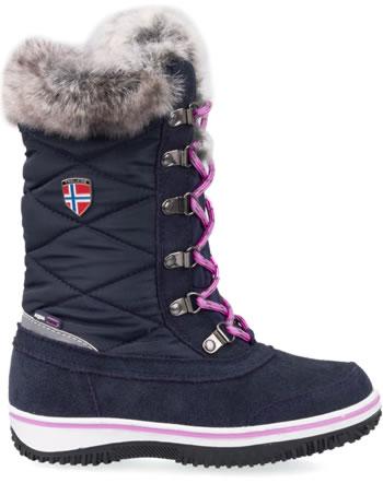 Trollkids Girls Snow Boots HOLMENKOLLEN navy/magenta 171-114