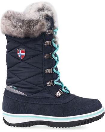 Trollkids Girls Snow Boots HOLMENKOLLEN navy/mint 171-132